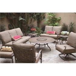 Darlee Florence 8 Piece Patio Sofa Set with Seat and Back Cushion