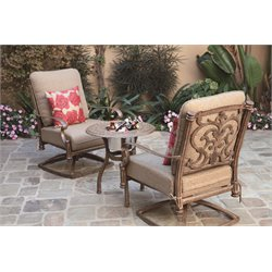 Darlee Santa Barbara 3 Piece Patio Bistro Set with Cushion