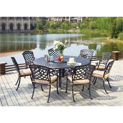 Darlee Sedona 9 Piece Patio Dining Set with Cushion