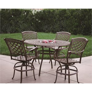 Darlee Sedona 5 Piece Patio Counter Height Pub Set with Seat Cushion