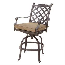 Darlee Camino Real Patio Bar Stool in Antique Bronze (Set of 2)