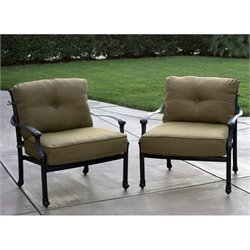 Darlee Camino Real Patio Club Chair in Antique Bronze (Set of 2)