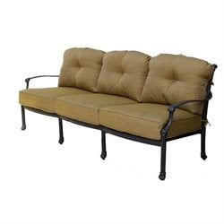Darlee Camino Real Patio Sofa with Cushion in Antique Bronze