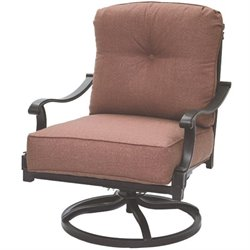 Darlee Charleston Patio Rocking Chair in Antique Bronze (Set of 2)