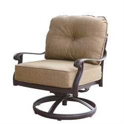 Darlee Elisabeth Patio Rocking Chair in Antique Bronze (Set of 2)
