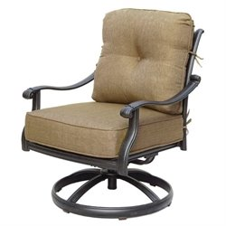Darlee San Marcos Patio Rocking Chair in Antique Bronze (Set of 2)
