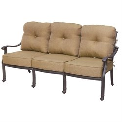 Darlee San Marcos Patio Sofa with Cushion in Antique Bronze