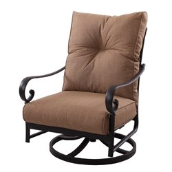 Darlee Santa Anita Patio Rocking Chair in Antique Bronze (Set of 2)