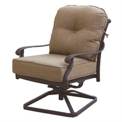 Darlee Santa Monica Patio Rocking Chair in Antique Bronze (Set of 2)