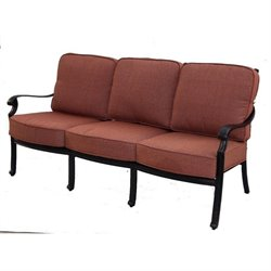 Darlee St. Cruz Patio Sofa with Cushion in Antique Bronze