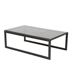 Darlee Vienna Wicker Patio Coffee Table in Espresso
