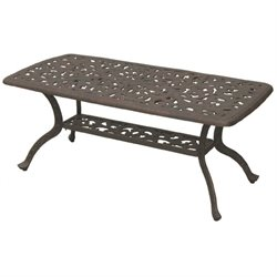 Darlee Series 80 Patio Coffee Table in Antique Bronze
