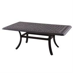 Darlee Series 88 Patio Coffee Table in Antique Bronze