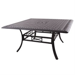 Darlee Series 88 Square Patio Counter Height Table in Antique Bronze