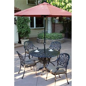 Darlee 9' Auto Tilt Patio Market Umbrella with Paprika Canopy