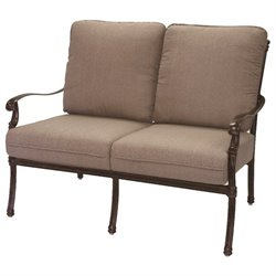 Darlee Florence Patio Loveseat with Sesame Cushion