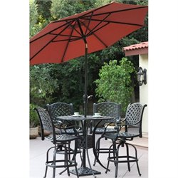Darlee 9' Auto Tilt Patio Market Umbrella