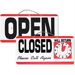 Advantus Open/Closed Sign w/Clock