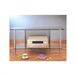 VTI AGR Series Metal and Tempered Glass Plasma/LCD TV Stand - Silver