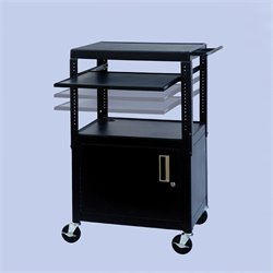 VTI FSC Adjustable Cabinet Cart With Front/Back Pull Out Shelf