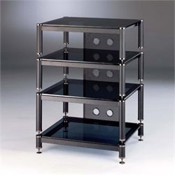 VTI BLG Series 4 Shelf Audio Rack - Black / Black / Black