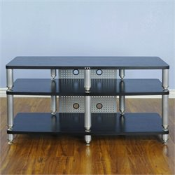 TV Stand in Silver and Black