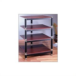 VTI BL Series 4-Shelf Audio Rack - Black / Black / Black