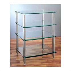 VTI AGR-404 4 Shelf Silver Glass Audio Rack - Silver