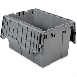 Akro-Mils Attached Lid Storage Container