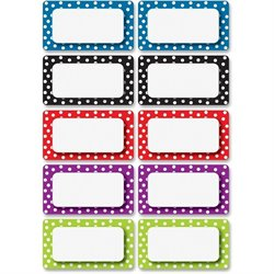 Ashley Prod. Dotted Dry Erase Nameplate Magnets