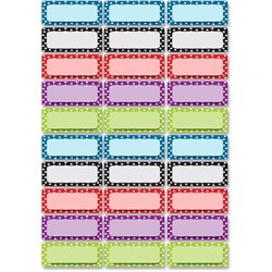 Ashley Prod. Dry Erase Dotted Nameplate Magnets