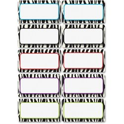 Ashley Prod. Zebra Print DryErase Nameplate Magnet