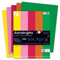 Wausau Astrobrights Assorted 65lb Card Stock