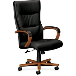 Basyx HVL844 High-back Wood Base Executive Chair