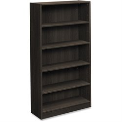Basyx Espresso BL Laminate 5-shelf Bookcase