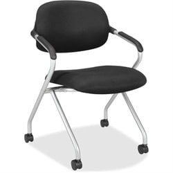 Basyx VL303 Upholstered Back Nesting Chairs