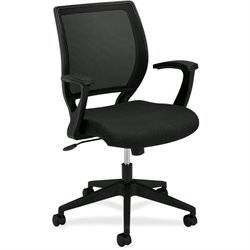 Basyx VL521 Mid-Back Fixed Arms Mesh Chair