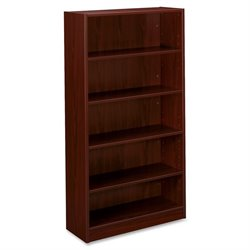 Basyx BL Series 5-shelf Mahogany Laminate Bookcase