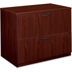 Basyx BL Mahogany Laminate 2-drawer Lateral File