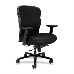 Basyx Big & Tall Adj. Arms Mesh High-back Chair