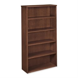 Basyx BW Harwood Mahogany Veneer 5-shelf Bookcase