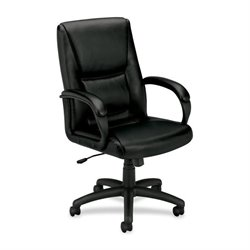 Basyx VL161 Executive Leather Mid-back Chair
