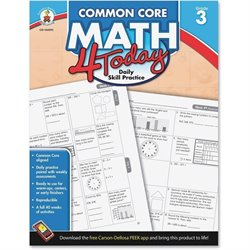 Carson Grade 3 Common Core Math 4 Today Workbook