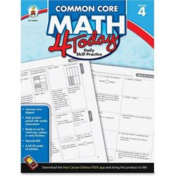 Carson Common Core Math 4 Today Grade-4 Workbook