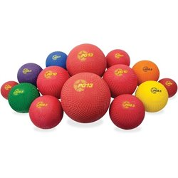 Champion Sports Multi-Size Playground Ball Set  (Set of 14)