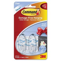 3M Command Adhesive Strips Hanging Small Hooks