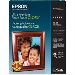 Epson Ultra-premium Glossy Photo Paper  (Set of 25)