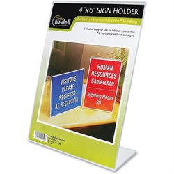 NuDell Clear Plastic Sign