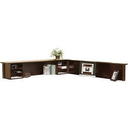 Kathy Ireland Home by Martin Tribeca Loft Cherry L-Shaped Reception Hutch