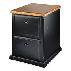 Kathy Ireland Home by Martin Southampton 2 Drawer File in Distressed Onyx